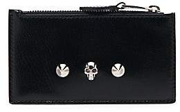 Alexander McQueen Women's Small Skull Leather Zippered Card Holder