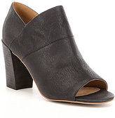Me Too Adam Tucker by McKenna Leather Peep Toe Block Heel Shooties