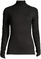 Josie Natori Ruched-Sleeve Sweater