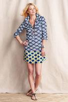 Lands' End Women's Patterned Shirtdress