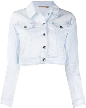 Patrizia Pepe Cropped Denim Jacket