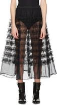 Molly Goddard Black Tulle Melanie Ruffle Skirt
