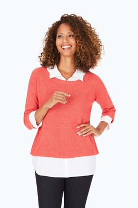 Foxcroft Women's Two-for-One Sweater Shirt Combo