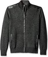 Calvin Klein Men's Full Zip Boucle Lined Sweater