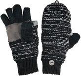 Muk Luks Marled Fingerless Flip Top Gloves