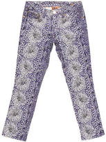 Tory Burch Floral-Print Cropped Jeans