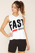 Forever 21 Active Be Fast Graphic Tank