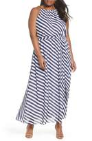 MICHAEL Michael Kors Chain Neck Maxi Dress