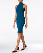 Bar III Mock-Neck Ribbed Bodycon Dress, Only at Macy's