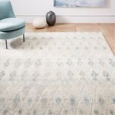 west elm Textured Ikat Wool Rug - Light Pool