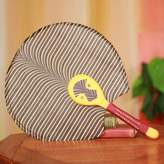 Hand Crafted African Ashanti Fan with Cotton and Wood, 'Obaahemaa II'
