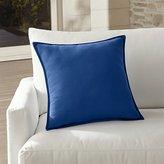 """Crate & Barrel Sunbrella ® Mediterranean Blue 20"""" Sq. Outdoor Pillow"""