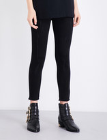 Mo&Co. Frayed-hem high-rise skinny cropped jeans