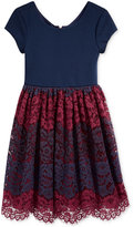 Bonnie Jean Little Girls' Colorblocked Lace Ballerina Dress