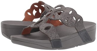 FitFlop Elora Crystal Slide (Pewter) Women's Shoes
