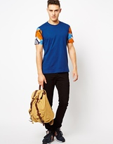 Bite By Dent De Man T-Shirt With Patterned Sleeves
