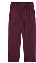 Derek Rose Kelburn Wine Red Lounge Trouser