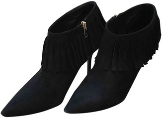 Burberry Black Suede Boots