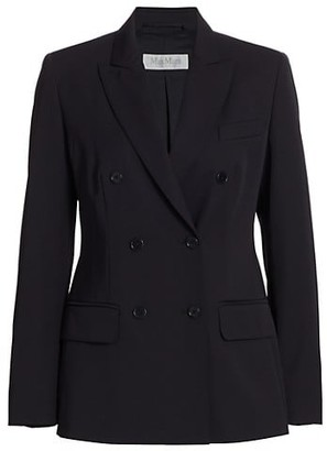 Max Mara Double Breasted Wool Blazer