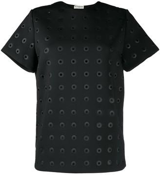 Balenciaga Pre Owned eyelet detailed T-shirt