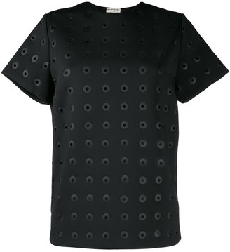 Balenciaga Pre-Owned eyelet detailed T-shirt