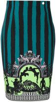 Versace embroidered skirt - women - Polyester/Spandex/Elastane/Viscose - 42
