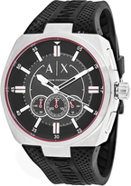 Giorgio Armani Exchange Trimeter AX1804 Men's Black Silicone and Stainless Steel Chronograph Watch