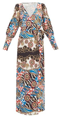 Rhode Resort Aspen Scarf-print Dress - Cream Multi