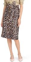 J.Crew Women's Leopard Print Tie Waist Skirt