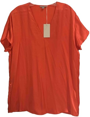 Cos Orange Silk Top for Women