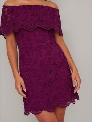 Chi Chi London Eleya Dress - Berry