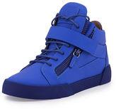 Giuseppe Zanotti Men's Matte Leather Zip & Buckle Mid-Top Sneaker