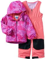 Columbia Toddler Girl OUTGROWN Fleece-Lined Jacket & Reinforced Bib Snow Pants Set