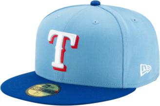 New Era MLB 59Fifty Authentic Cap - Texas Rangers - Baby Blue / Royal