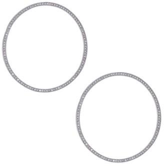 Fallon 14K Gold Rhodium-Plated Hoop Earrings
