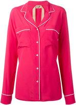 No.21 contrast trim shirt - women - Acetate/Silk - 44