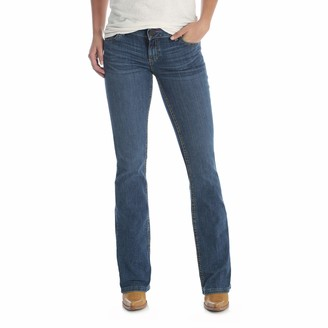 Wrangler Women's Premium Patch Booty Up Technology Sits Above Hip Jeans Ocean Crest 15W x 34L