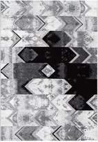 nuLoom Hilma Abstract Chevron Rug - Grey