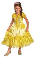 Disney Princess Girls' Belle Sparkle Deluxe Costume