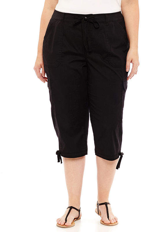 Drawstring Cargo Crop - Plus