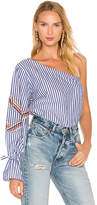 Tanya Taylor Anka Top in Blue. - size 0 (also in 2,4,6)