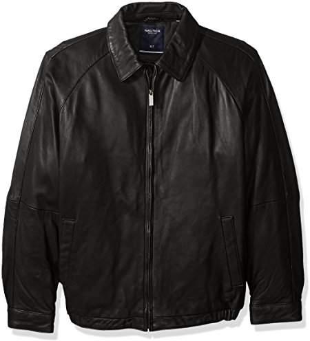 Nautica Men's Big and Tall Lamb Zip-Front Blouson Jacket