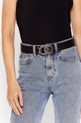 Nasty Gal Womens Make That a Double Faux Leather Belt - Black - One Size