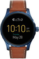 Fossil Q Marshal Saddle Leather Strap Touchscreen Smart Watch 45mm FTW2106