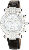 Chopard Imperiale 18k Chronograph Watch w/ Pave Diamond Bezel, 3.24tcw