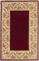 Kas Floral Border Wool Rectangular Rug