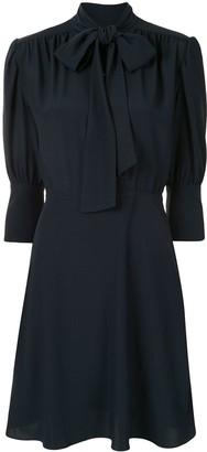 Victoria Victoria Beckham Pussybow-Neck Shirt Dress
