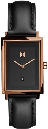 MVMT Signature Square Stainless Steel Leather-Strap Watch