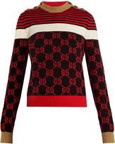 Gucci GG-jacquard cotton-blend sweater