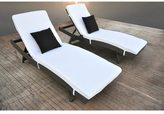 Solis Zori 2-Piece Chaise Lounge Set - Cement Gunmetal Gray